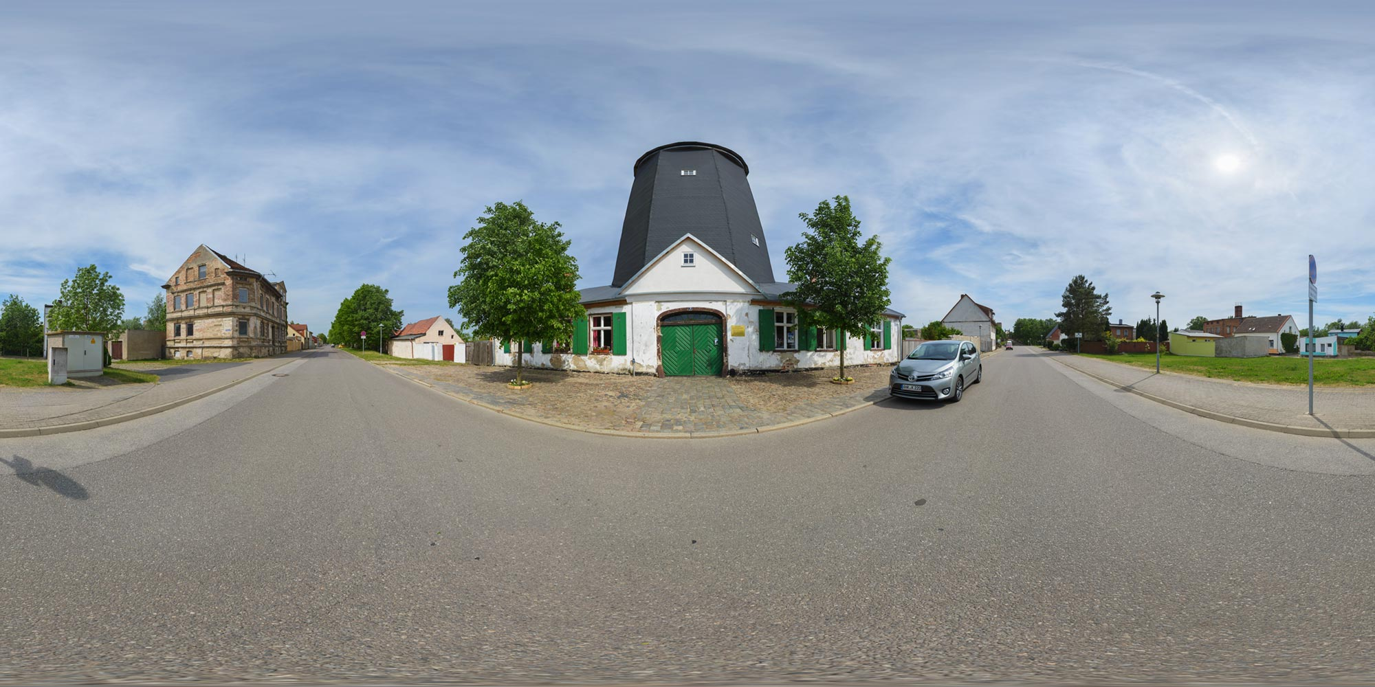 Panorama  Anklam - Schwedenmühle