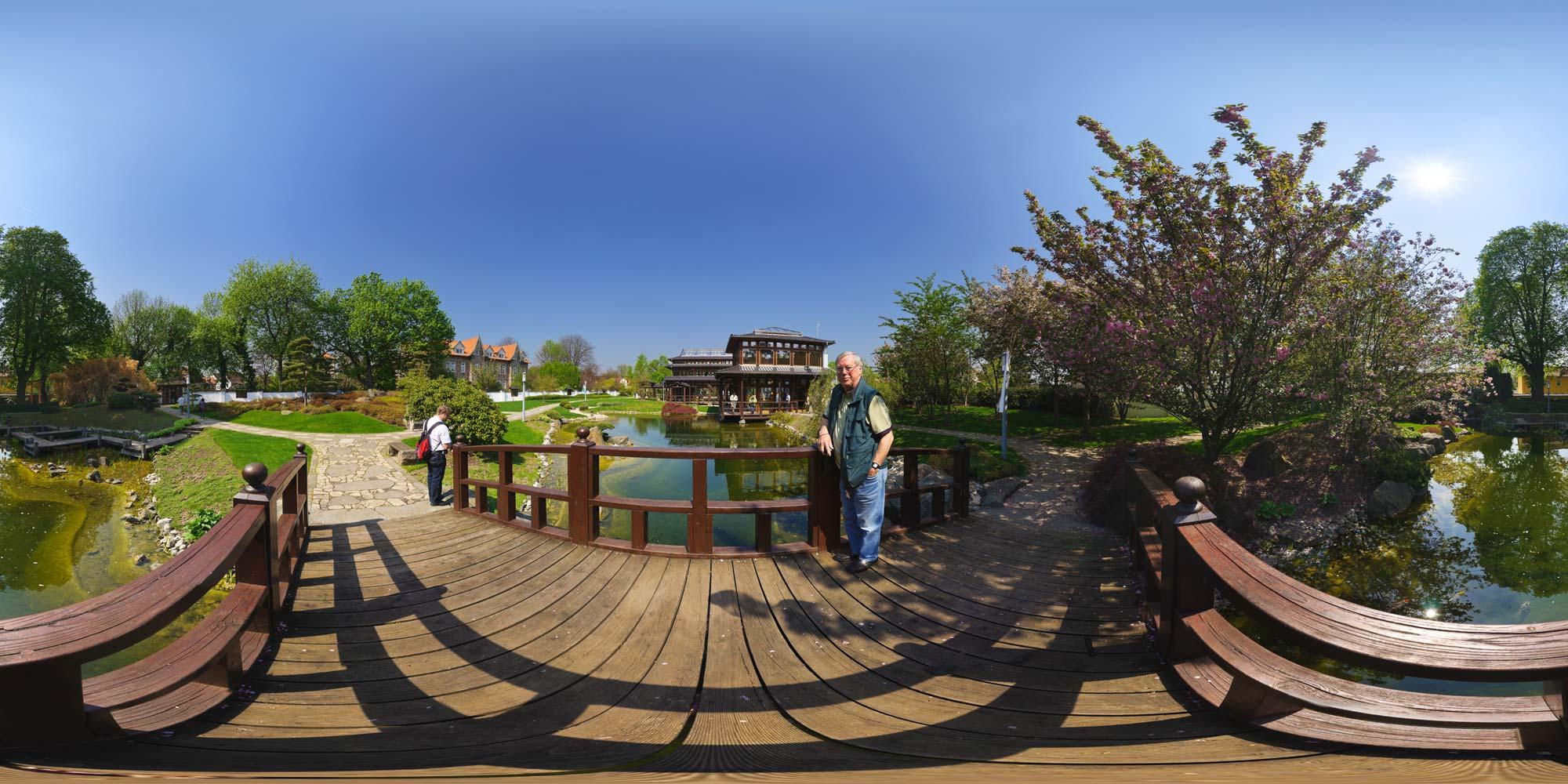 Panorama: Bad Langensalza - Japanischer Garten - Bogenbrücke Karte ...