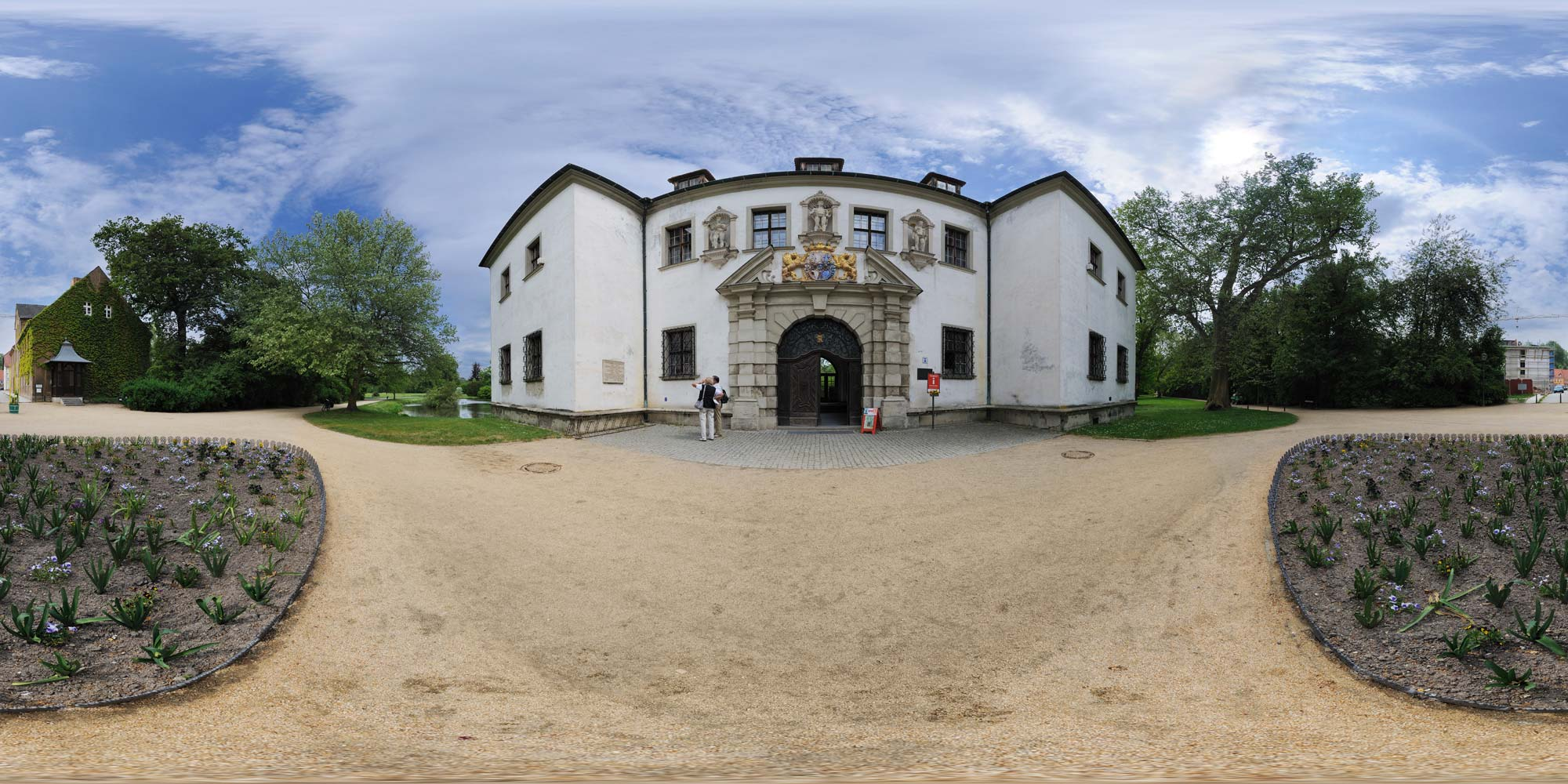 Panorama  Park Bad Muskau - Altes Schloss