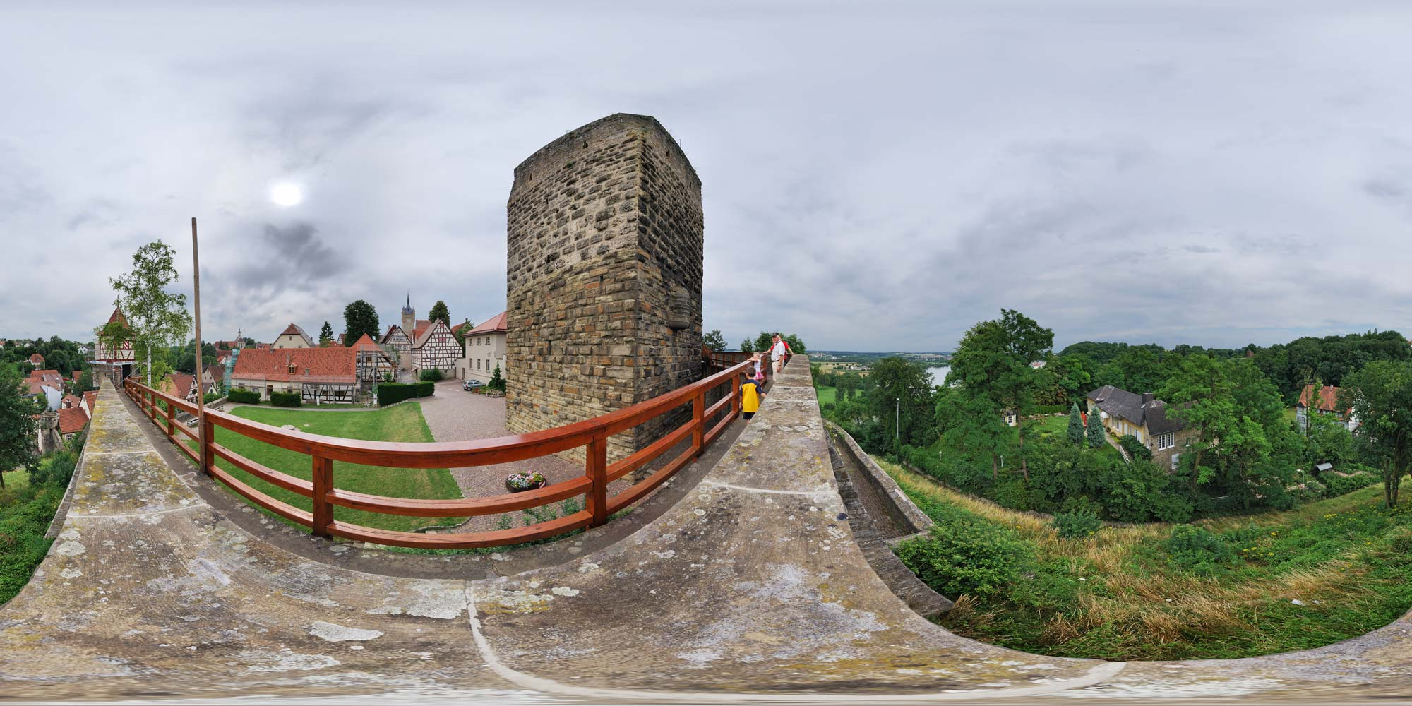 Panorama  Bad Wimpfen - Roter Turm