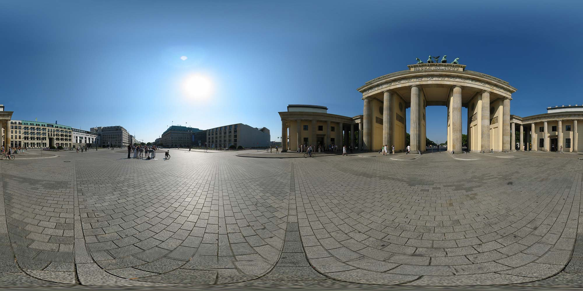 Panorama Berlin Brandenburger Tor - 2004