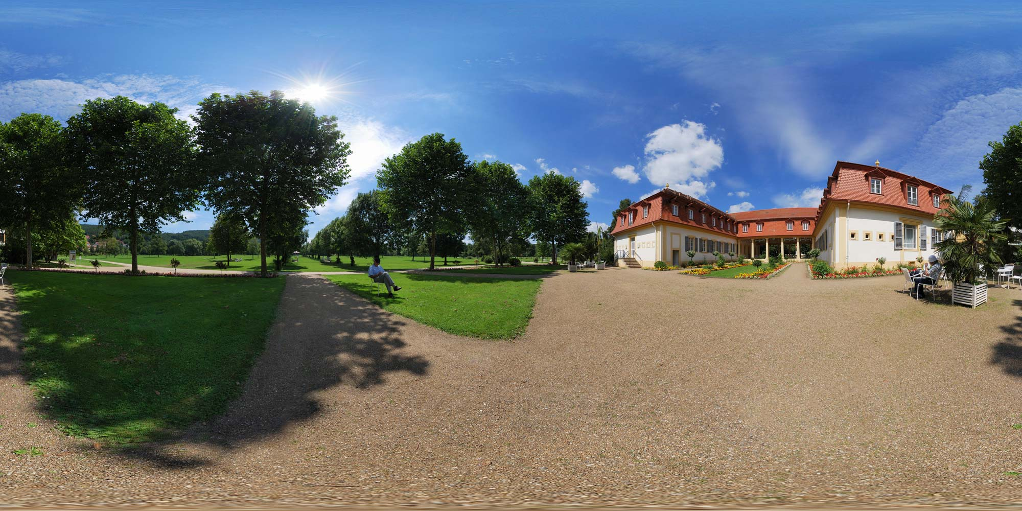 Panorama  Bad Bocklet - Kurpark.