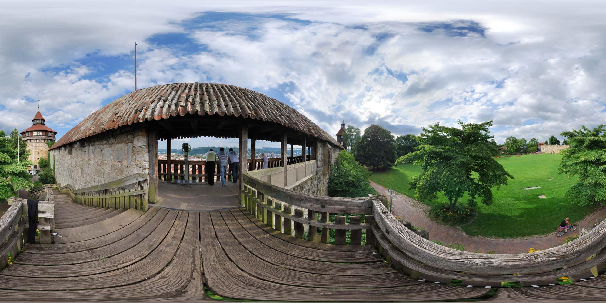 Kubische Panoramen Panorama Foto Esslingen Am Neckar Burg Burghof
