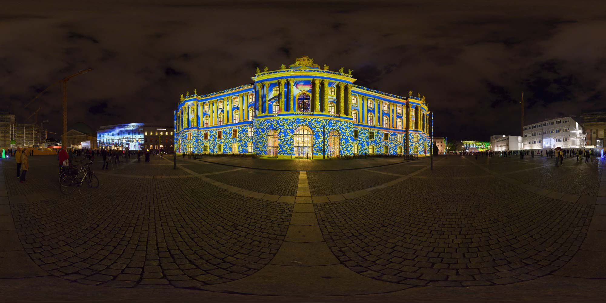 Panorama Berlin Festival of Lights - FOL 2014 Bebelplatz - FOL 2014 Bibliothek