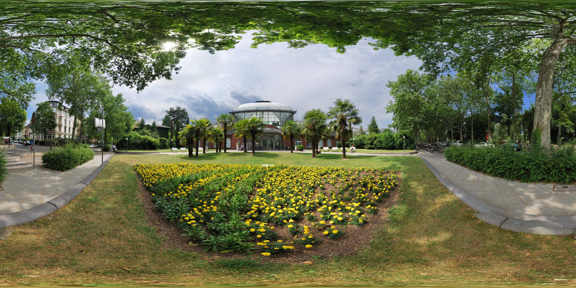 kubische panoramen panorama foto frankfurt am main botanischer garten. Black Bedroom Furniture Sets. Home Design Ideas