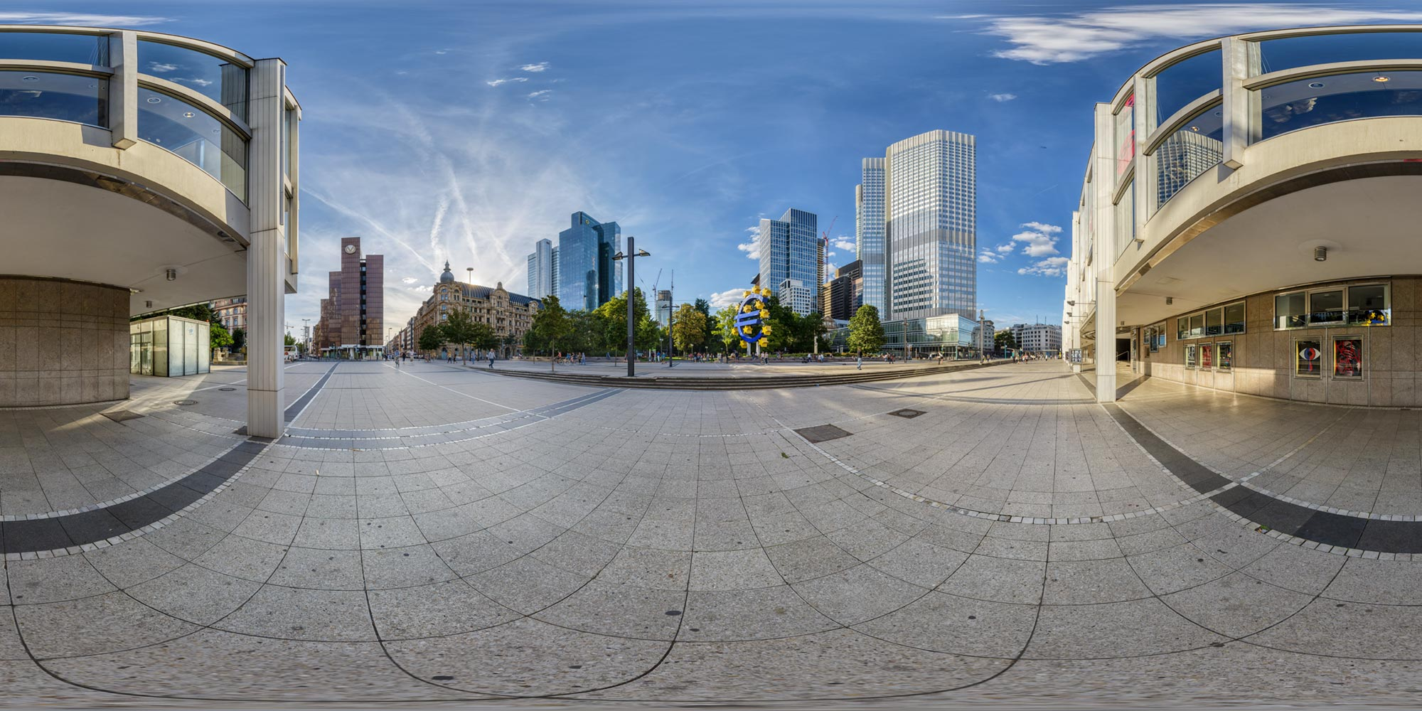 Panorama  Frankfurt am Main - Willy-Brandt-Platz - 2018