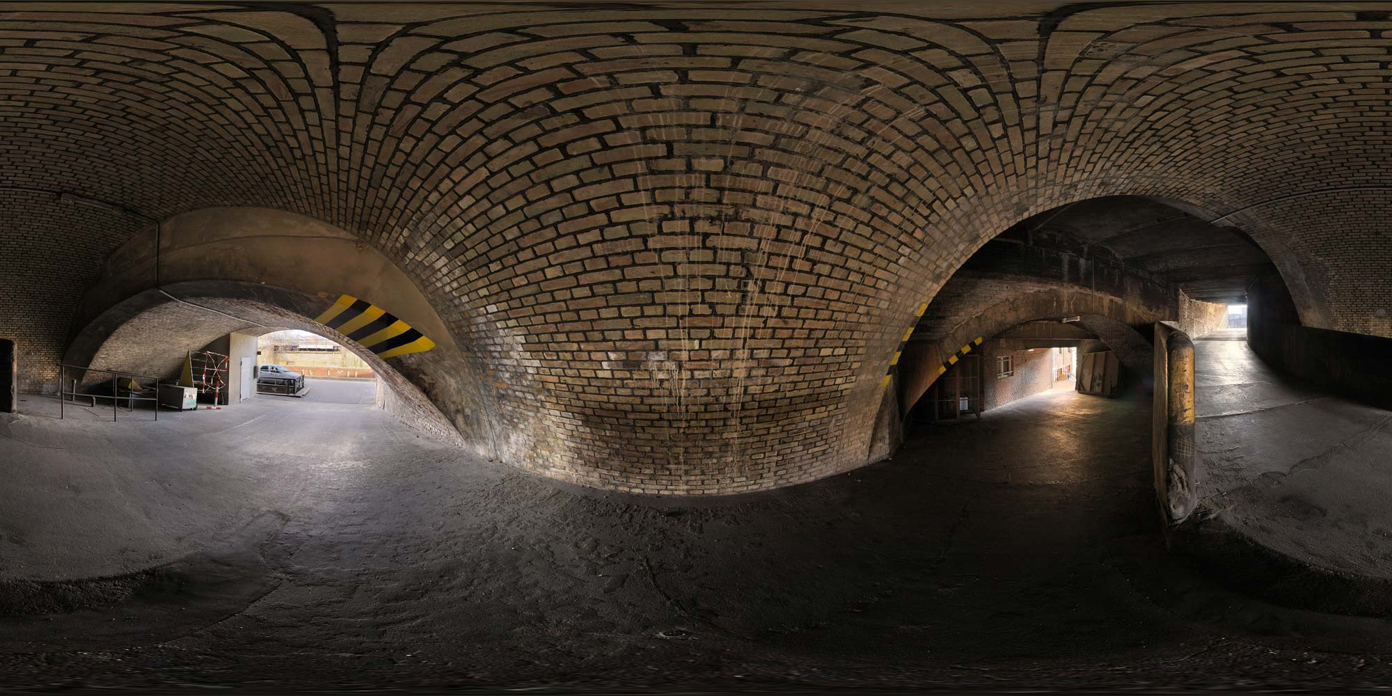 Panorama Berlin Gleisdreieck - Tunnel