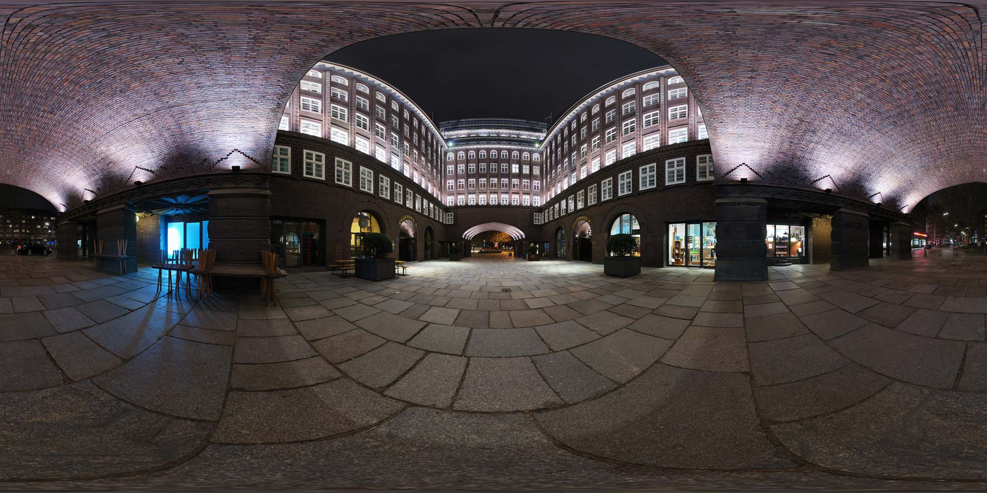 Panorama Hamburg Chilehaus - Chilehaus Hof A/B