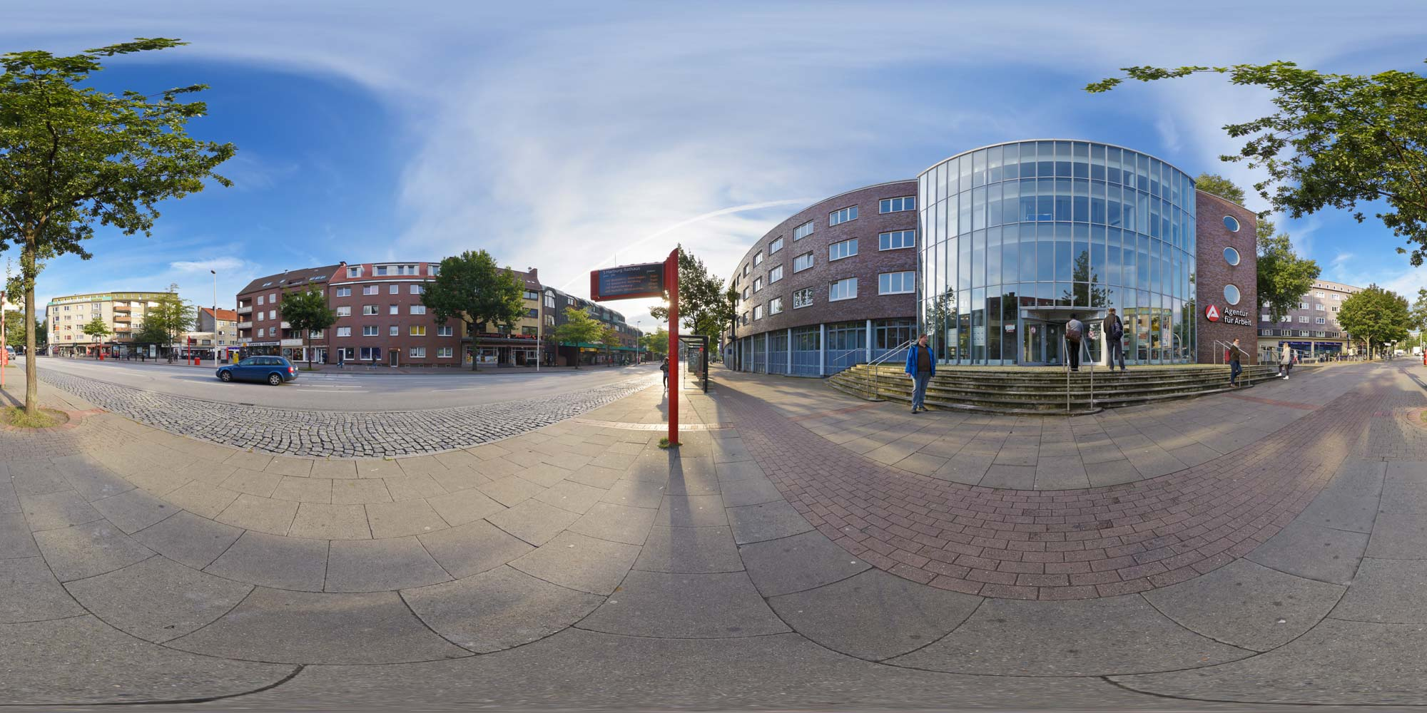 Panorama Hamburg Harburg - Harburger Ring