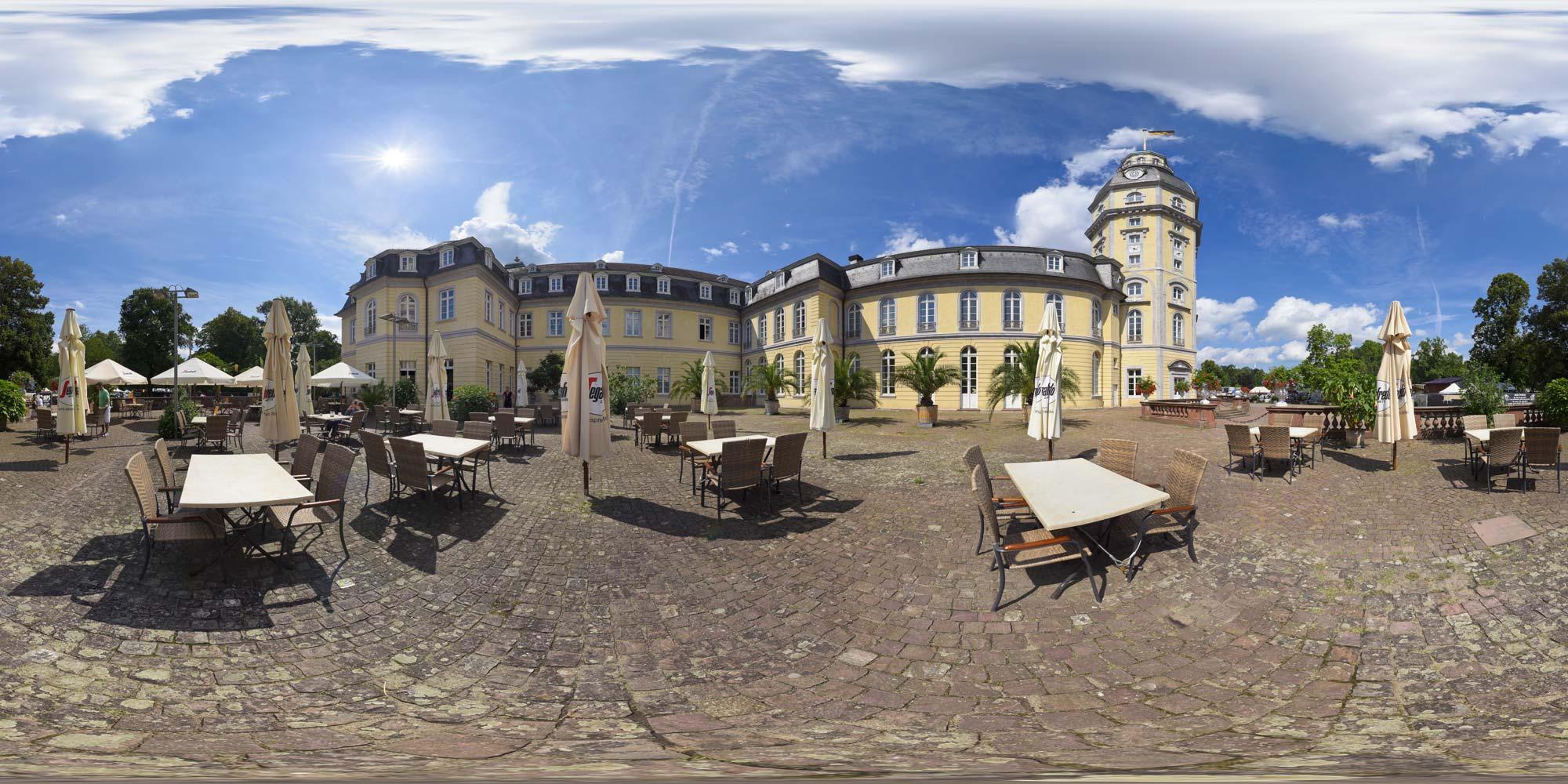 Kubische Panoramen Panorama Foto Karlsruhe Schloss Karlsruhe Cafe