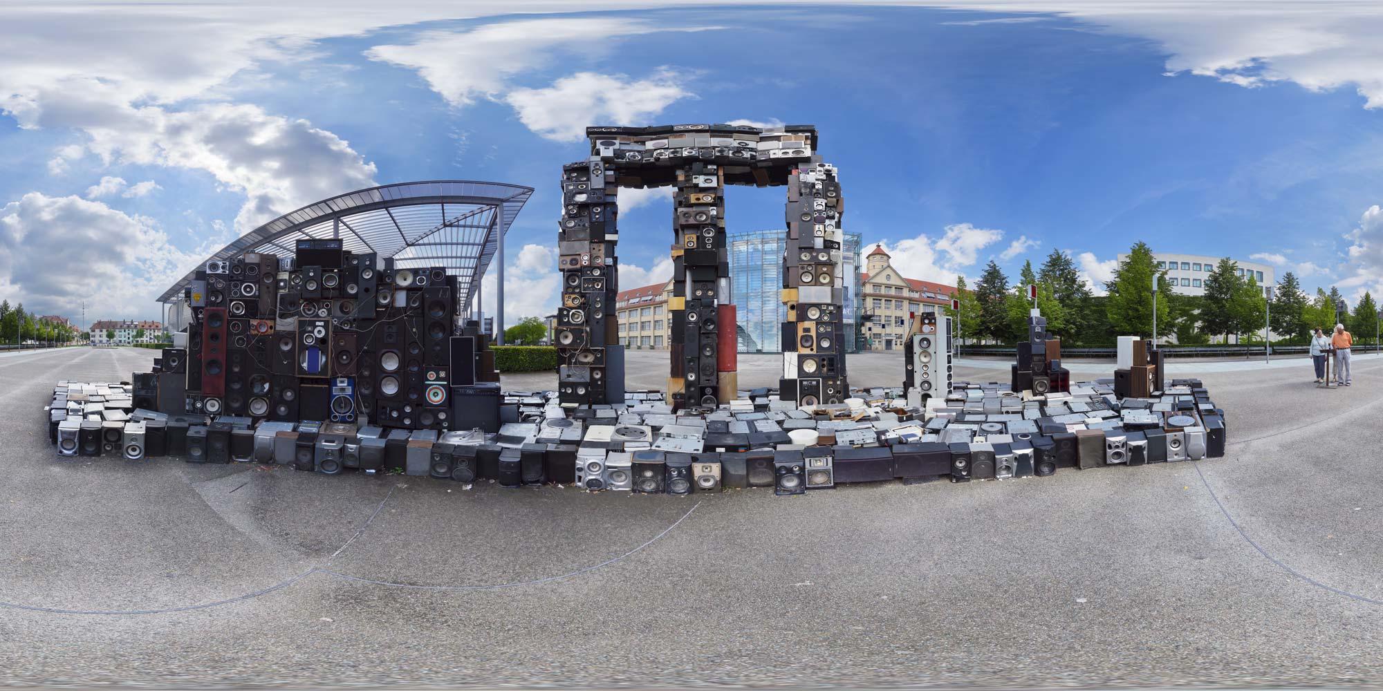 Kubische Panoramen  PanoramaFoto Karlsruhe  Zentrum