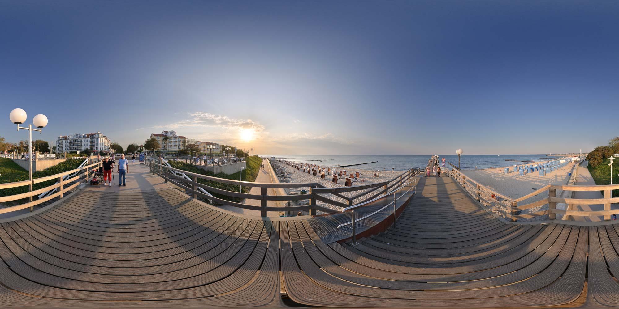 kubische panoramen   panorama foto k hlungsborn   seebr cke