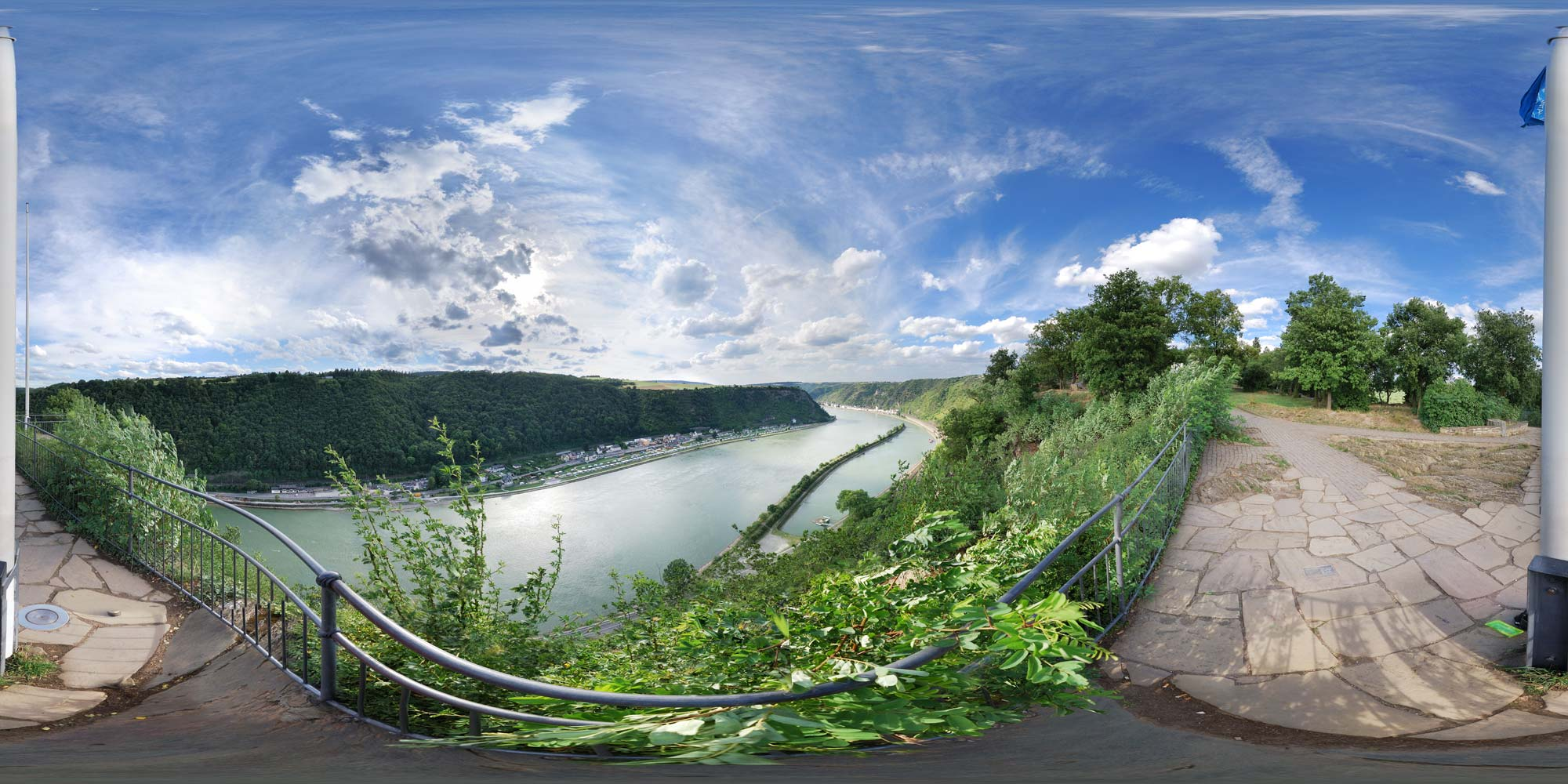 Panorama  Mittelrhein - Loreley - Westseite