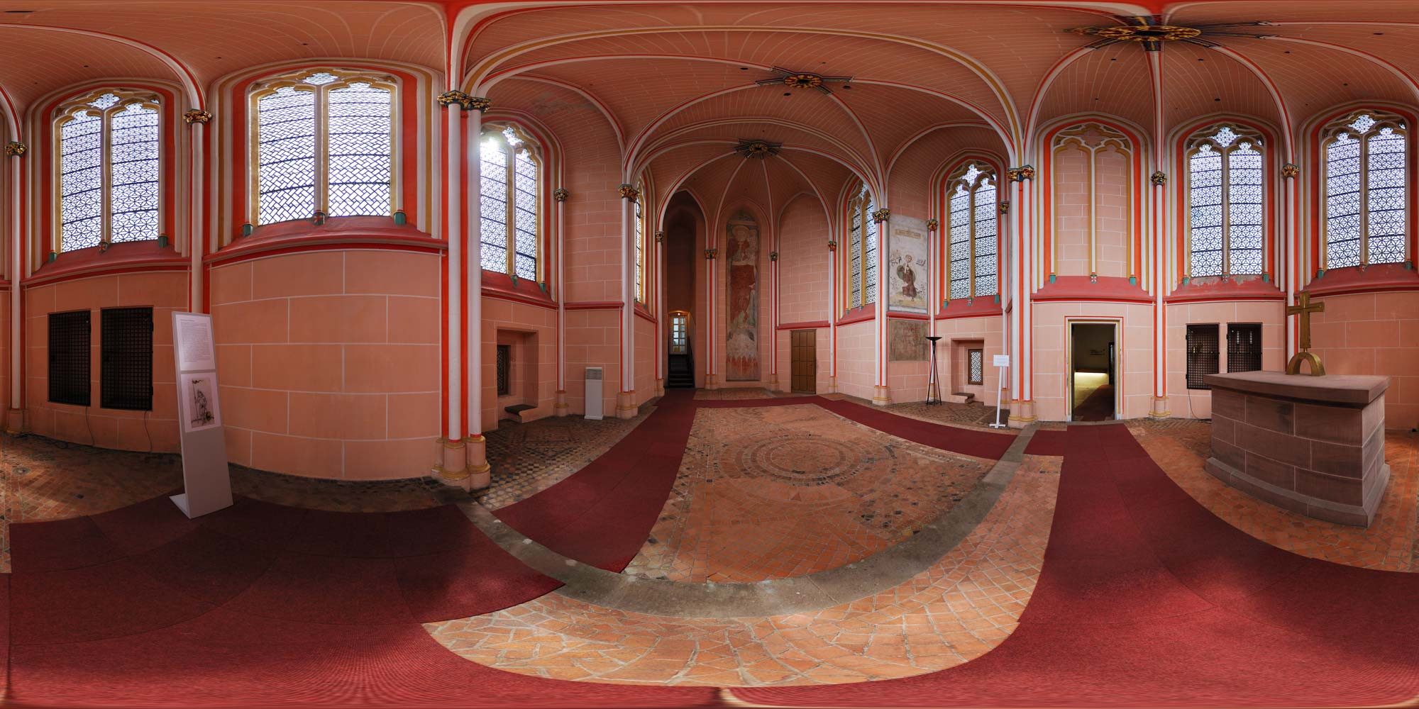 Panorama  Marburg - Schloss Marburg - Kapelle
