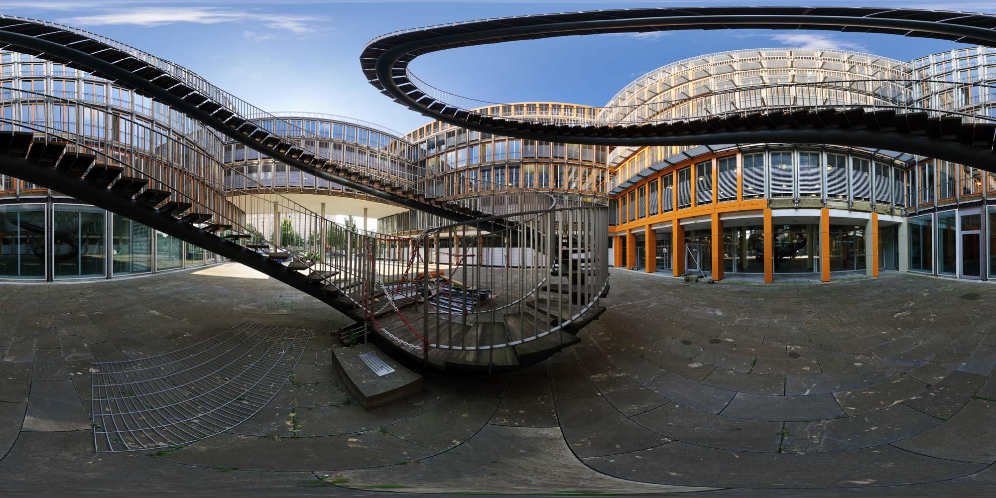 Treppen München kubische panoramen panorama foto bayern münchen endlose treppe