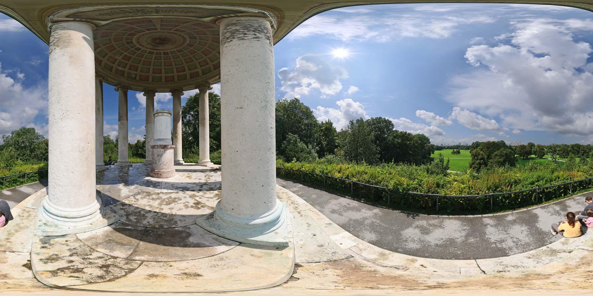 Kubische Panoramen Panorama Foto München Englischer Garten
