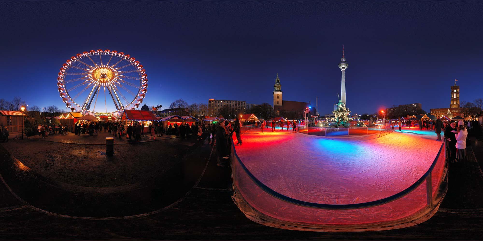 kubische panoramen   panorama foto berlin bei nacht