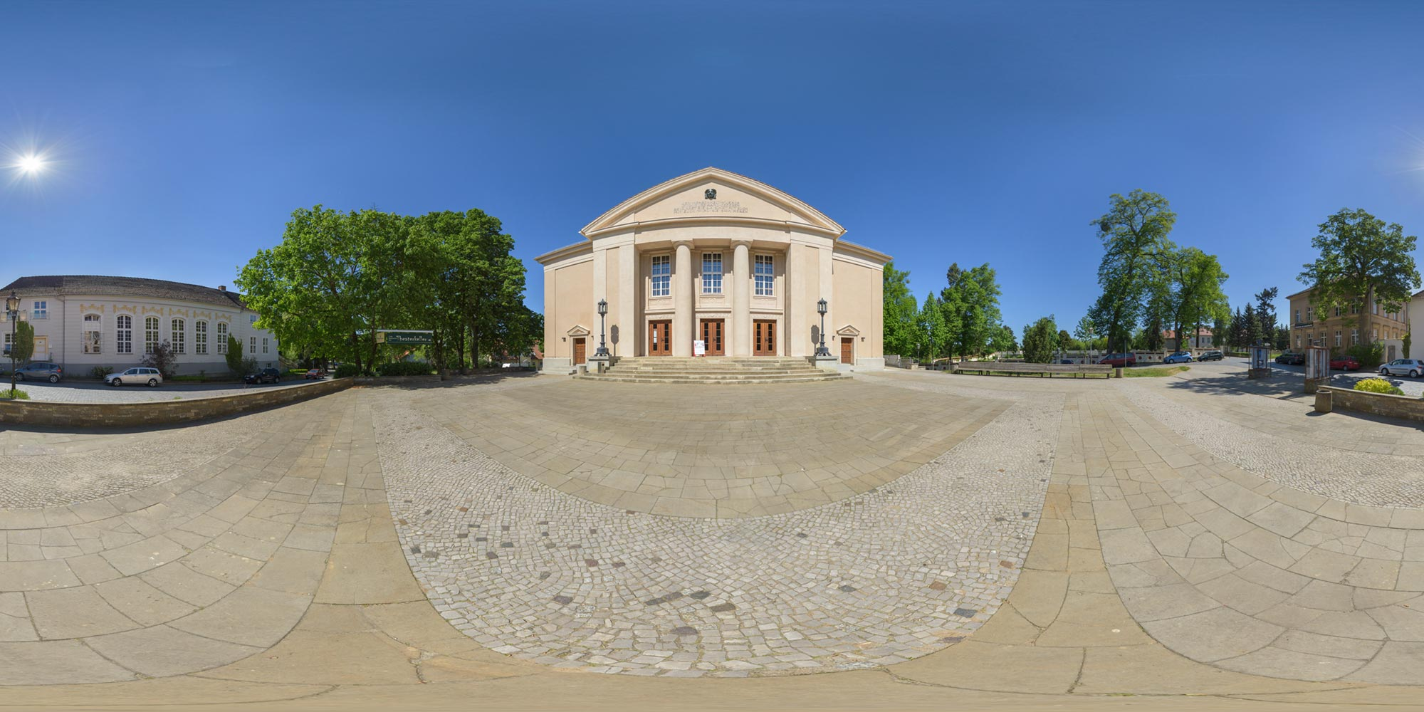 Panorama  Neustrelitz - Theater