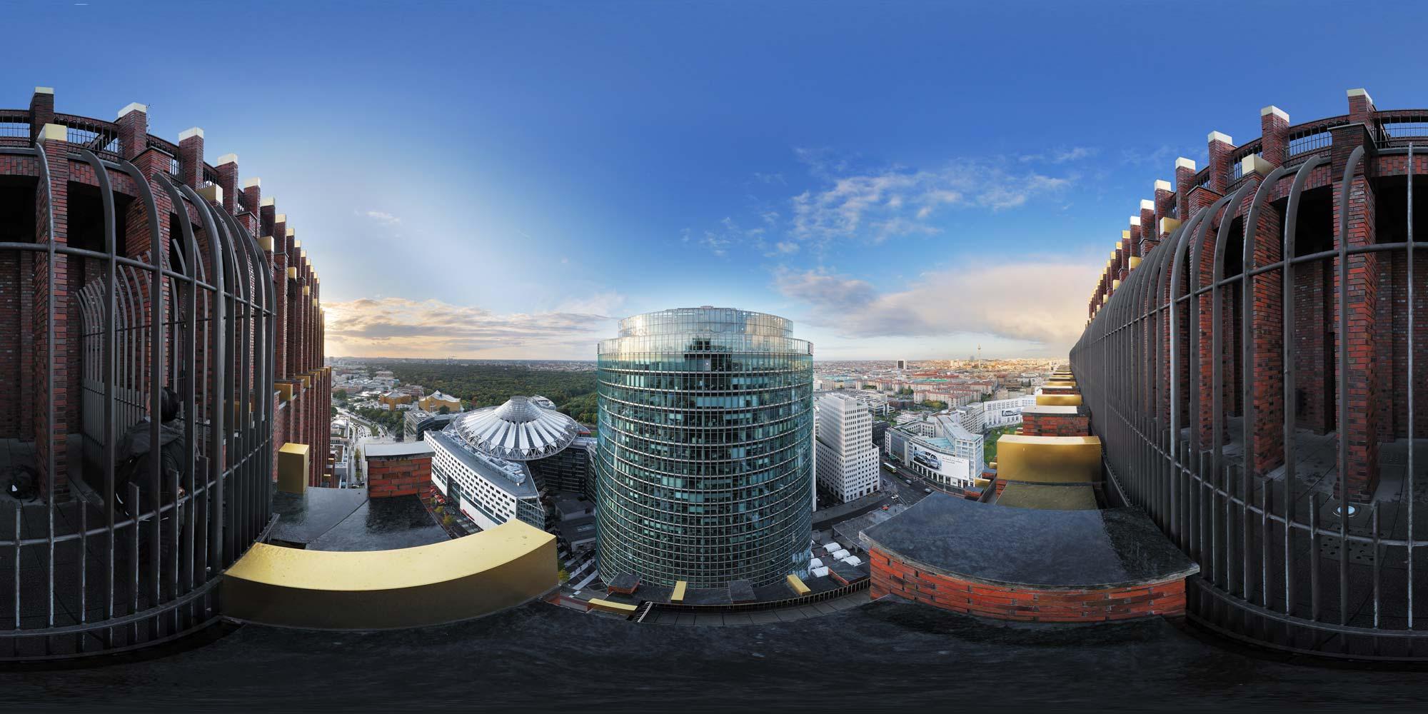 kubische panoramen panorama foto potsdamer platz areal blick auf das sony center. Black Bedroom Furniture Sets. Home Design Ideas