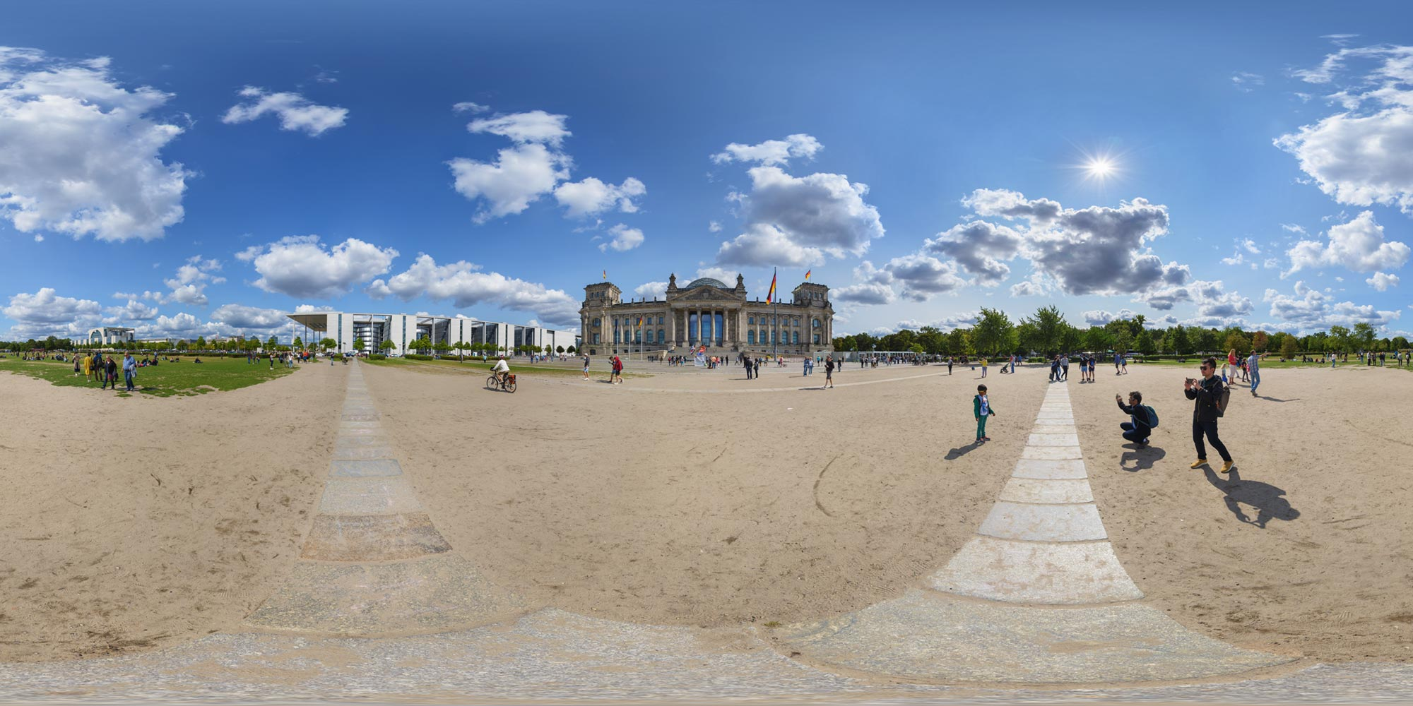 Panorama Berlin Reichstagsareal - Reichstag 2018