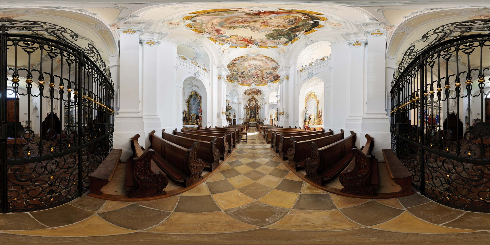 kubische panoramen panorama foto kloster rott am inn klosterkirche. Black Bedroom Furniture Sets. Home Design Ideas