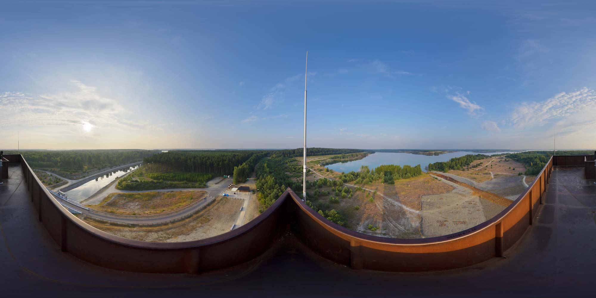 Kubische Panoramen - Panorama-Foto: Sedlitzer See - Landmarke ...