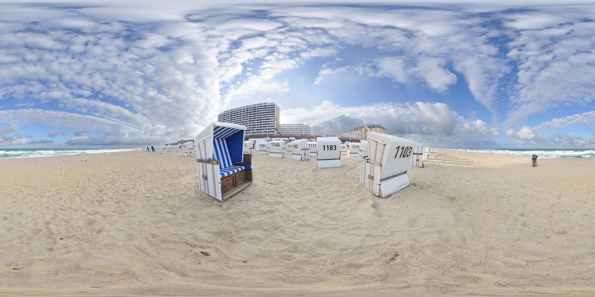 Panorama  Sylt - Westerland - Strand