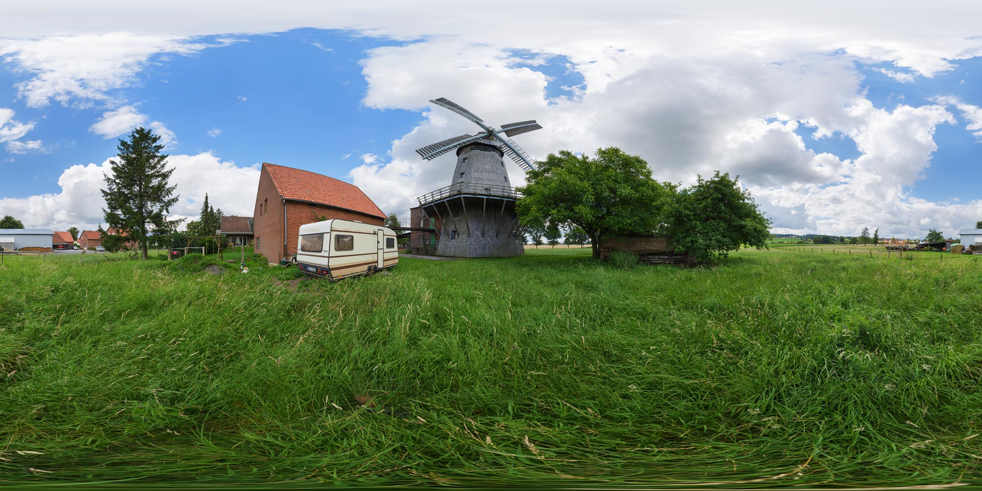 Panorama  Wichtringhausen - Mühle - Frontansicht